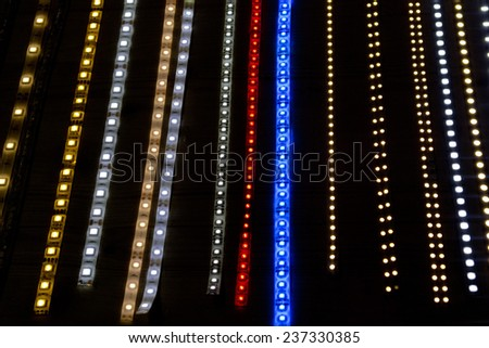 multi color led lamp strip  - stock photo