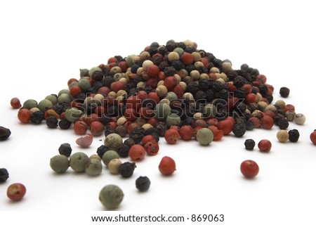 Multi color pepper seeds - stock photo