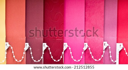 Multi-colored blind panels as a background image - stock photo