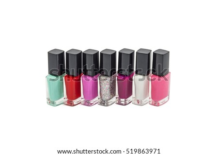 stock-photo-multi-colored-bottles-with-n