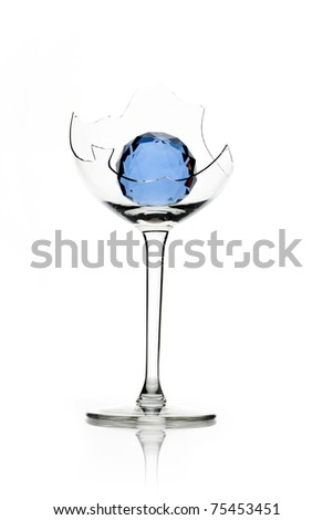 multi-colored glass, colored balls, glass, bubbles, diamond, crystal white, red, clean, paint, blue, - stock photo