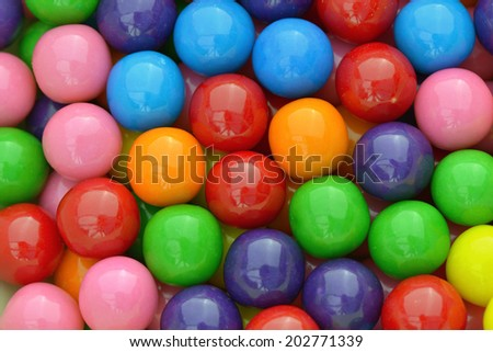 Multi colored gumballs to use as background - stock photo
