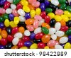 multi colored jelly bean candy for an easter background - stock photo