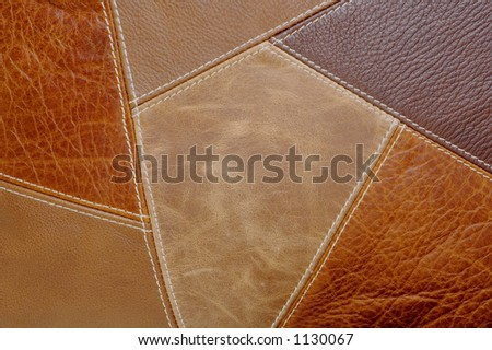 Multi-Colored leather patch material Background - stock photo