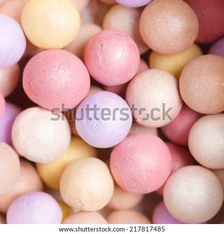 Multi-Colored Powder Pearls - stock photo