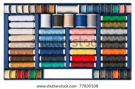 Multi-colored sewing thread pattern