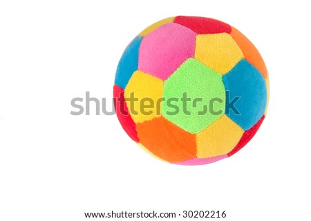 Multi colored soft ball for babies - stock photo