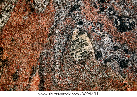 Multi-Colored Speckled Marble - stock photo