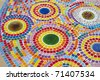 Multi-colored tiles. - stock photo