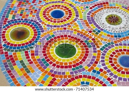 Multi-colored tiles. - stock photo