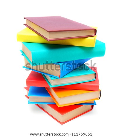 Multi - coloured books. School .