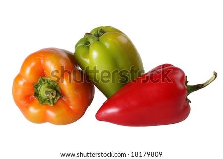 Multi-coloured pepper - stock photo