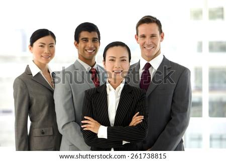 Multi ethnic business team - Portrait - stock photo