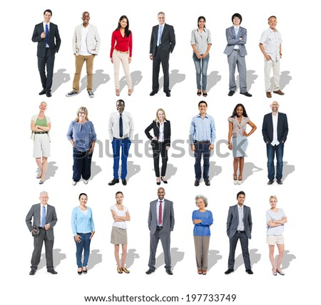 Multi-Ethnic Group of Business People  - stock photo