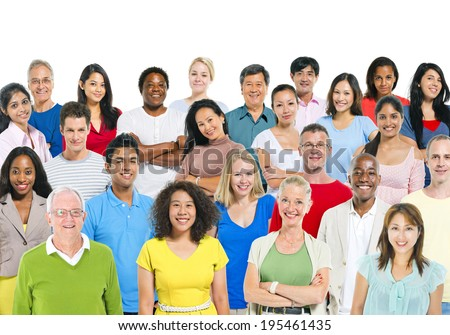 Multi Ethnic Group Of People