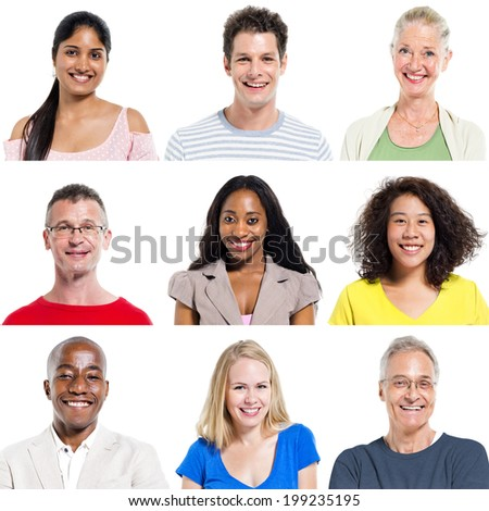 Multi-Ethnic Group Of People Expressing Positivity