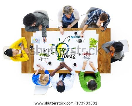 Multi-Ethnic Group of People Planning Ideas - stock photo