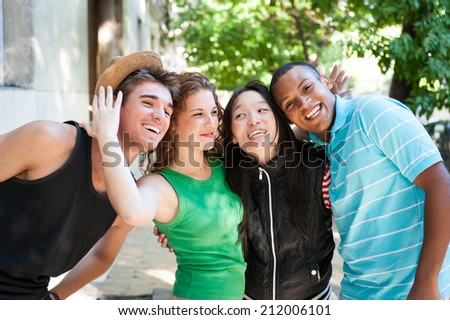Multi-ethnic group of succesful adults. - stock photo
