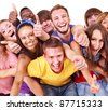 Multi-ethnic group people  Isolated. - stock photo