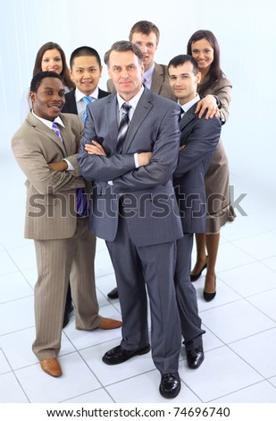 multi ethnic mixed adults corporate business people team - stock photo