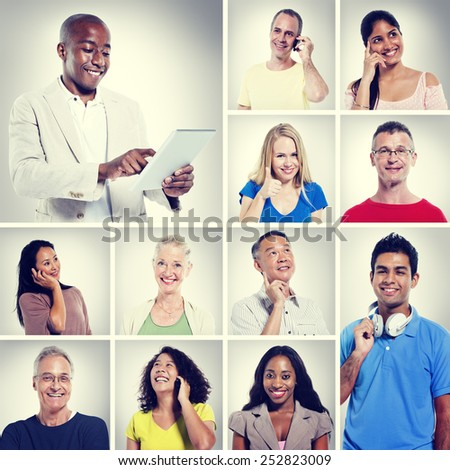 Multi Ethnic People Community Communication Concept