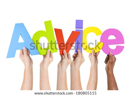 Multi Ethnic People Holding The Word Advice - stock photo