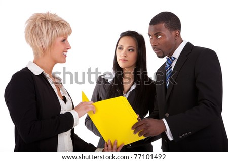 Multi ethnic work colleagues - stock photo