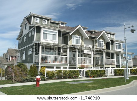 Multi-Family Home in Suburban Setting - stock photo