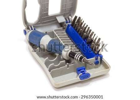 Multi Screwdriver - Old tools - stock photo