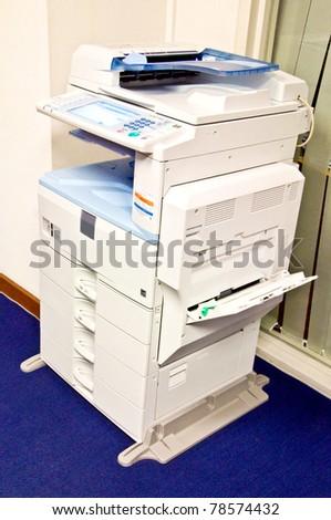 multi task copy machine - stock photo