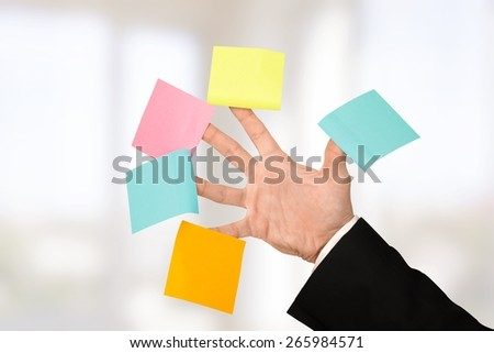 Multi-Tasking. Post Five - stock photo