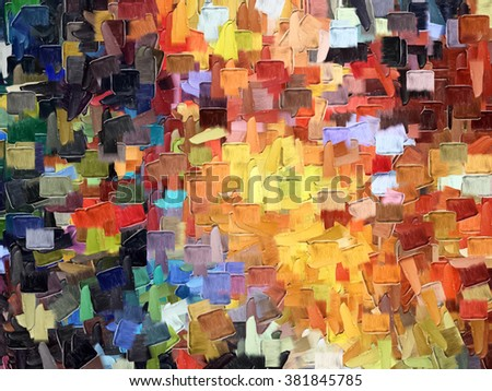 Multicolor Abstract Painting,Wallpaper, Colorful Textures,Pattern background - stock photo