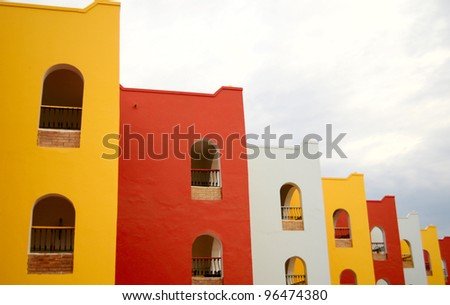multicolor building - stock photo