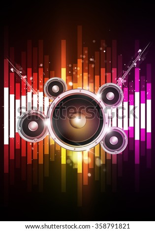 multicolor disco music equalizer background for joyful party events - stock photo