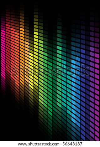 Multicolor Equalizer - stock photo