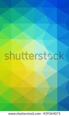 Multicolor green, blue polygonal illustration, which consist of triangles. Geometric background in Origami style with gradient. Triangular design for your business. - stock photo
