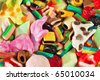 multicolor jelly background - stock photo