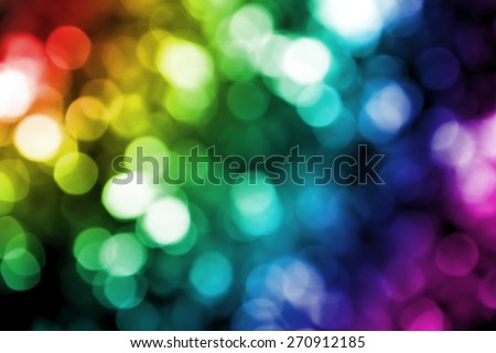 Multicolor light blur bokeh defocused background. - stock photo