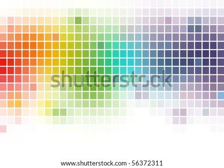Multicolor Mosaics Background - stock photo