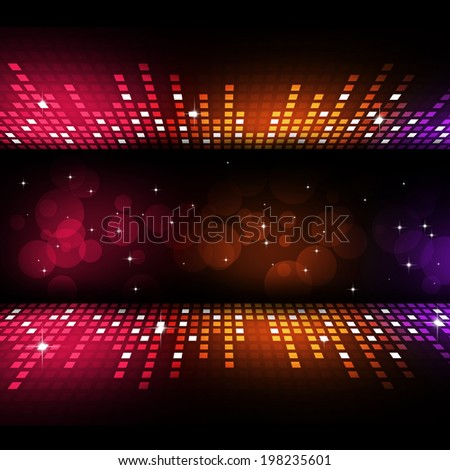 multicolor music equalizer background for active parties - stock photo