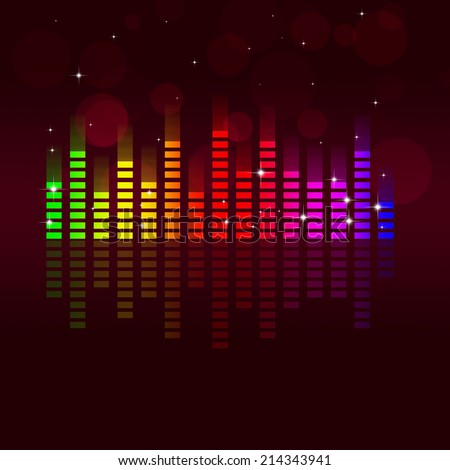 multicolor music equalizer background for active parties