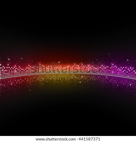 multicolor music equlizer background for active events - stock photo