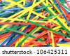 Multicolor Nylon Cable Ties on White Background - stock photo