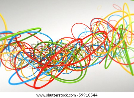 Multicolor Particles - stock photo