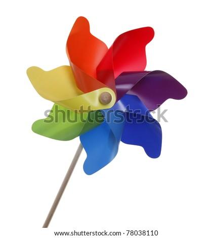 Multicolor pinwheel toy - stock photo