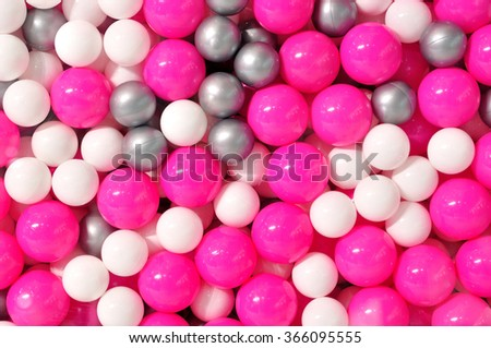 Multicolor plastic balls for background or texture. - stock photo