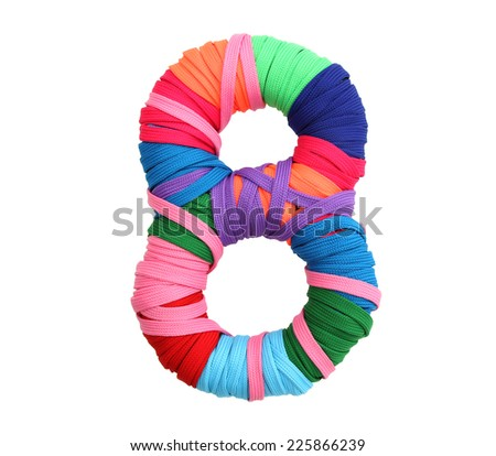 multicolor rope number - stock photo