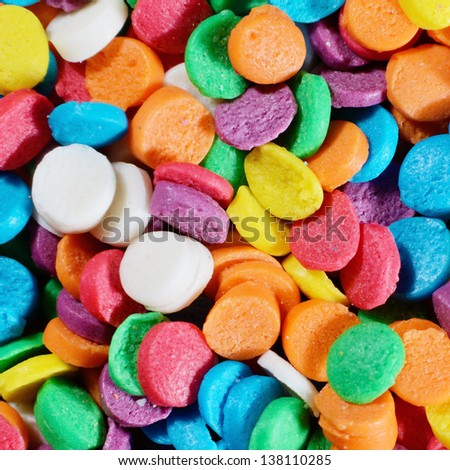 Multicolor sprinkles macro background photo - stock photo