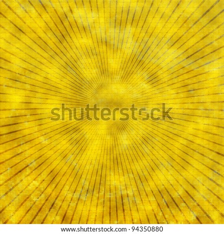 Multicolor sunbeams grunge background vintage poster. - stock photo