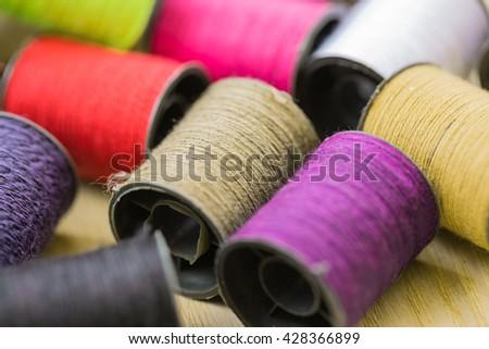 Multicolor thread worm - stock photo